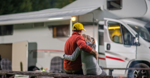 Father and daughter in Smoketree RV Park